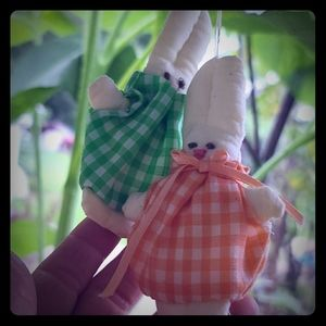 Vintage hand crafted pair of Easter ornaments